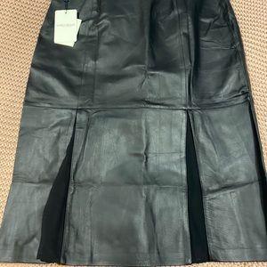 Marina Rinaldi Leather Skirt - bnwt